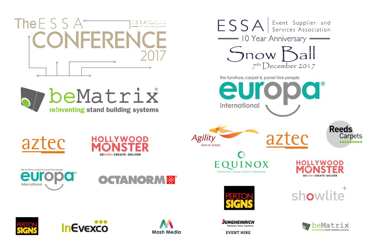 Conference Snow Ball Logos with all sponsors