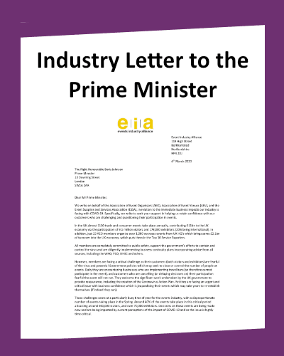 Coronavirus Industry Letter to PM Icon